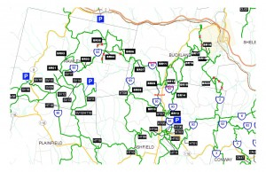 Buckland Riders Trail Map